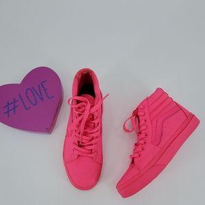 VANS pink hi top sneakers